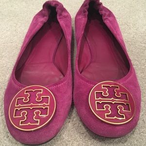 Tory Burch Pink Suede Flats Size 9